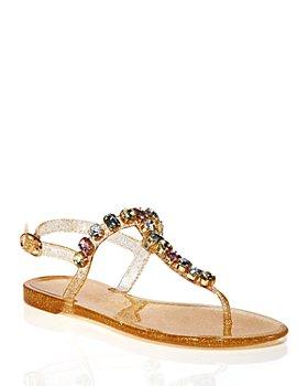 Stuart Weitzman - Women's Jaide Embellished Jelly Sandals