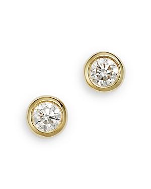 Roberto Coin 18K Yellow Gold Diamond Bezel Stud Earrings