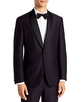Ted Baker - Josh Dark Purple Textured Solid Regular Fit Tuxedo Jacket