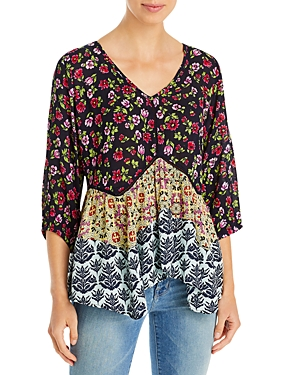 Printed Tiered Top