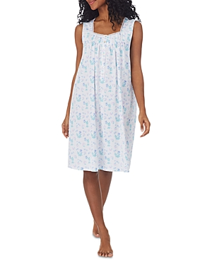 Cotton Floral Print Nightgown