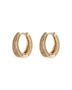 Geneva Pave Hoop Earrings