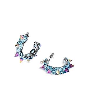 Swarovski Chroma Multicolor Spiky Hoop Earrings