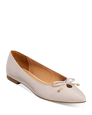 Women's Blair Pointed Toe Bow & Cutout Leather Flats