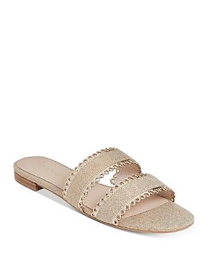 Women's Savannah Eyelet Double Band Slide Sandals