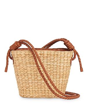 Whistles Lyra Mini Straw Shoulder Bag
