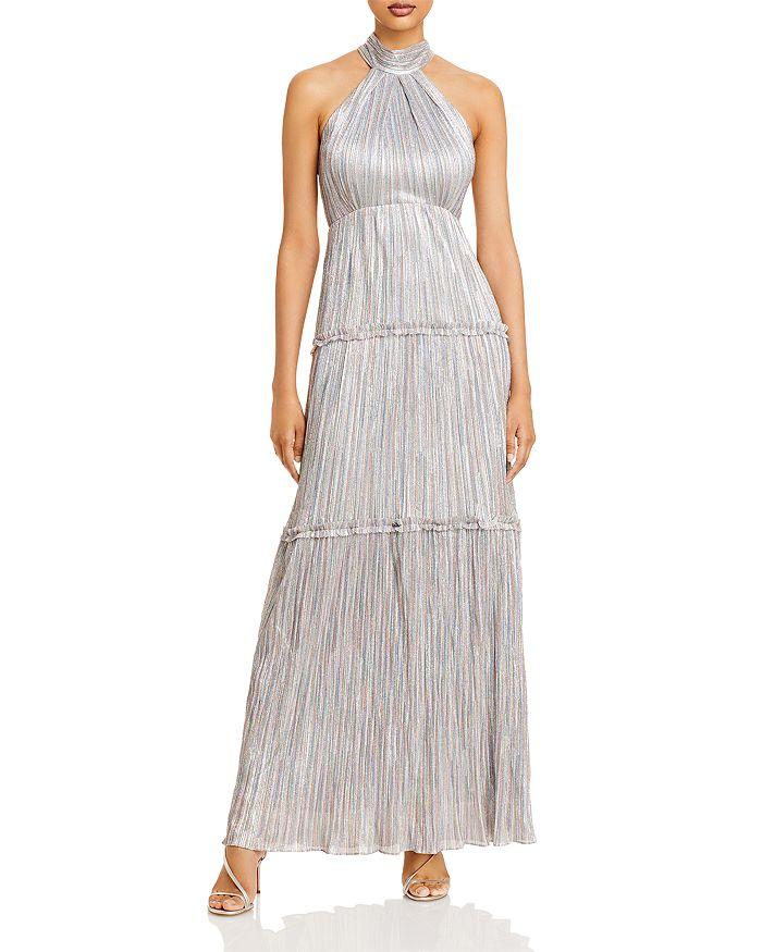 AQUA - Metallic Halter Gown - 100% Exclusive