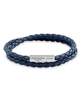 Tateossian - Double Wrap Woven Leather Bracelet