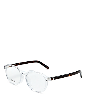 Dior Men's Round Clear Glasses, 53mm