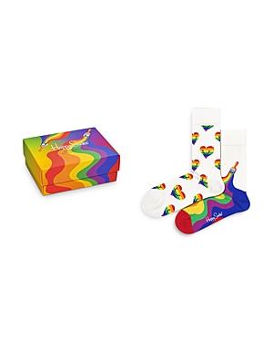 Happy Socks Pride Crew Socks, Set of 2