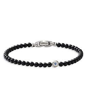 David Yurman - Spiritual Beads Evil Eye Bracelet with Black Onyx and Sapphires