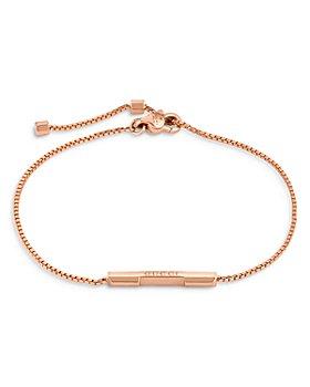 Gucci - 18K Rose Gold Link To Love Bar Bracelet