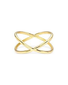 Zoe Lev - 14K Yellow Gold X Ring