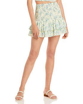 AQUA - Printed Ruffled Skirt - 100% Exclusive