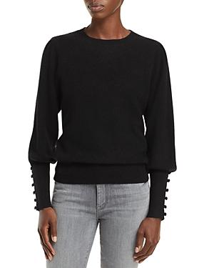 Balloon Sleeve Cashmere Sweater