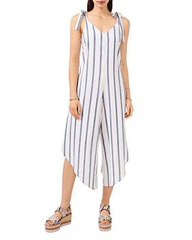 VINCE CAMUTO - Tie Shoulder Linen Blend Jumpsuit