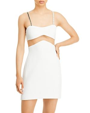 Mesh Insert Mini Dress