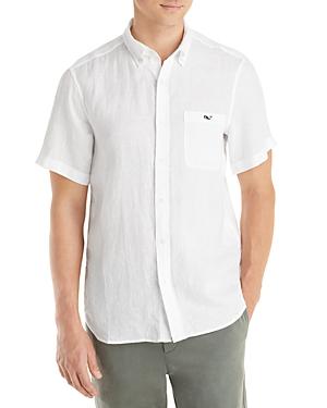 Vineyard Vines Linen Classic Fit Short Sleeve Shirt