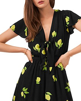 1.STATE - Printed Tie Front Romper