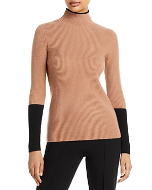 C by Bloomingdale's Ribbed Color Blocked Cashmere Sweater - 100% Exclusive