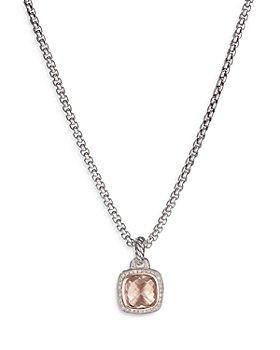 David Yurman - 18K Rose Gold & Sterling Silver Albion® Collection Morganite Pendant