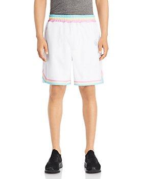 Local Hoops - Contrast Stripe Logo Print Relaxed Fit Shorts