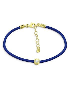Bloomingdale's - Diamond Blue Cord Bracelet, 0.10 ct. t.w. - 100% Exclusive