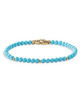 David Yurman - Spiritual Beads Bracelet with Turquoise in 14K Yellow Gold