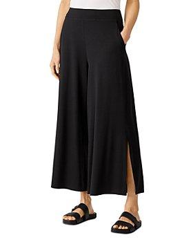 Eileen Fisher - Cropped Wide Leg Side Slit Pants