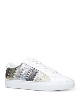 KURT GEIGER LONDON - Women's Lane Multi Stripe Low Top Sneakers