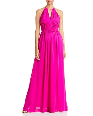 Pleated Bodice Gown