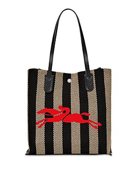 Longchamp - Essential Stripe Recycled Cotton Tote