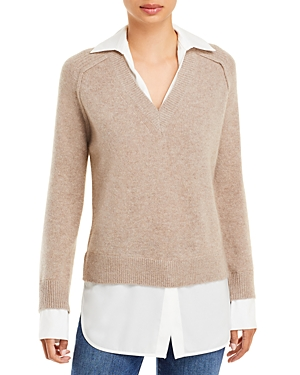 Layered Look Cashmere Sweater