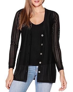 Belldini Striped Long Sleeve Cardigan