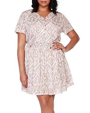 Printed Burnout Dress