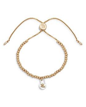 Ralph Lauren - Two Tone Beaded Lock Charm Bolo Bracelet