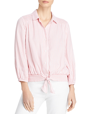 Isa Striped Tie Front Shirt