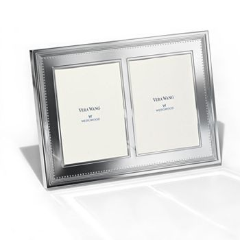 "Vera Wang - for Wedgwood ""Grosgrain"" Double Invitation Frame, 5"" x 7"""
