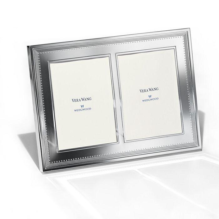 "Wedgwood - Grosgrain Double Invitation Frame, 5"" x 7"""