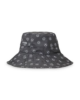 GANNI - Recycled Smiley Face Print Bucket Hat