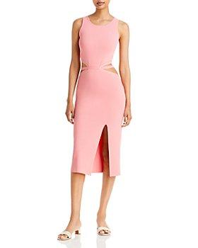 Lucy Paris - Cutout Midi Knit Dress
