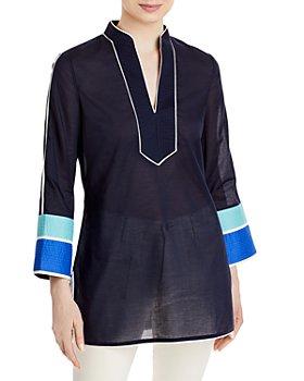 Tory Burch - Cotton Colorblocked Tunic