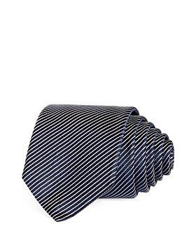 HUGO - Diagonal Stripe Silk Skinny Tie