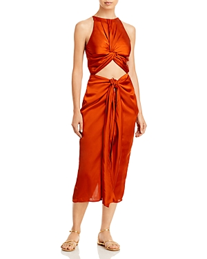 Reni Twisted Sleeveless Dress Swim Cover-Up