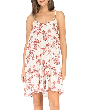 Floral Ruffled Trapeze Dress
