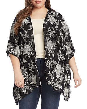 Drape Front Kimono Jacket