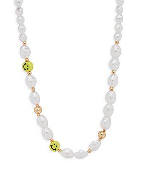"AQUA - Smile Simulated Pearl Necklace, 17"" - 100% Exclusive"
