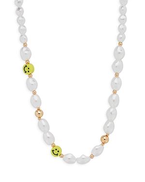 Aqua Smile Simulated Pearl Necklace, 17 - 100% Exclusive