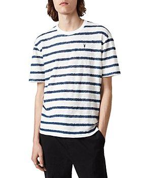 ALLSAINTS - Bamford Cotton Sketch Stripe Embroidered Logo Tee