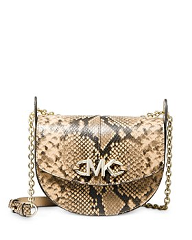 MICHAEL Michael Kors - Izzy Small Embossed Leather Convertible Saddle Crossbody